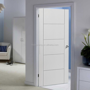 Simple design White primer flush hardboard door for American market & Simple Design White Primer Flush Hardboard Door For American ... pezcame.com