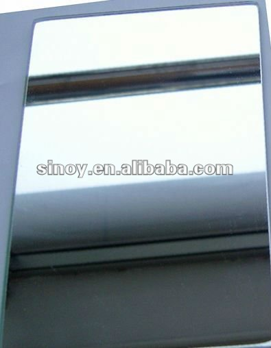 Distortion-free float glass silver and aluminum mirror