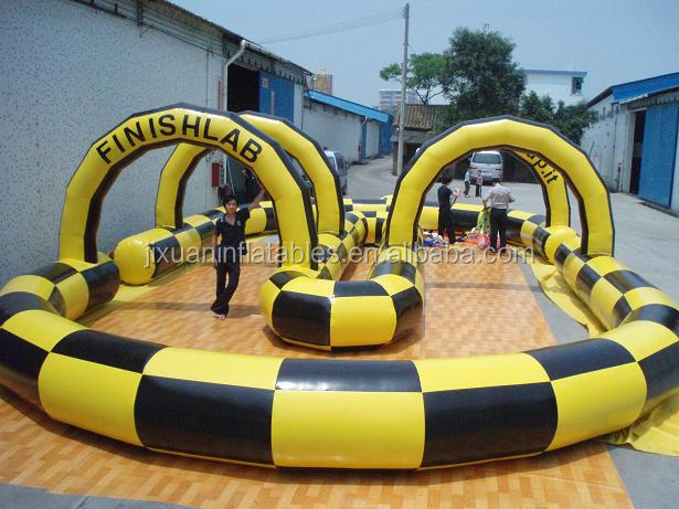 inflatable cars race track