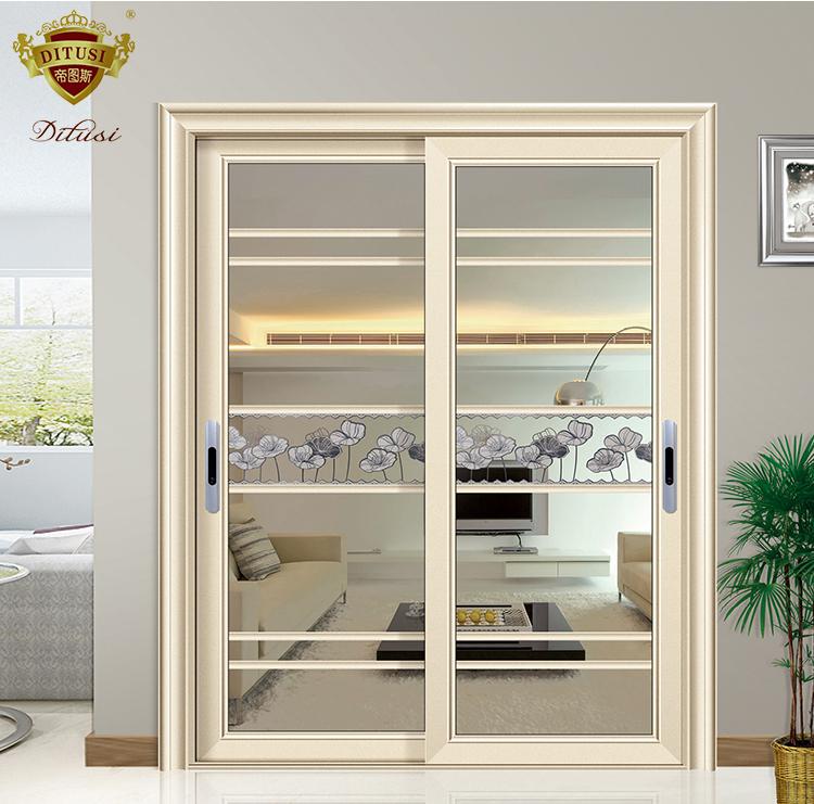 China High Quality Sliding Glass Door Aluminum Kitchen Double Leaf