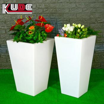 2017 Hot sale modern design led square flower vase for garden outdoor LED flower pot & 2017 Hot Sale Modern Design Led Square Flower Vase For Garden ...