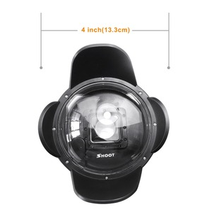 SHOOT 4 inch GoPro Dome Lens Dome Port for GoPro Hero 4/3+ Camera