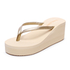 China factory direct wholesale height Increasing platform wedge blank pink eve sole womens flip flops cheap price 2019