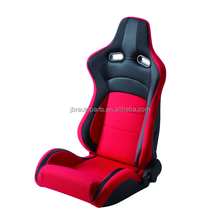 2017 NEW racing seat PVC carbon look cloth sport seat JBR 1064 Black Red Color Racing Seat