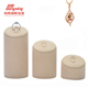 2018 China Manufacturer Custom Logo Hand Made MDF PU Leather Ring Earring Necklace Jewelry Display Ring Stand Display