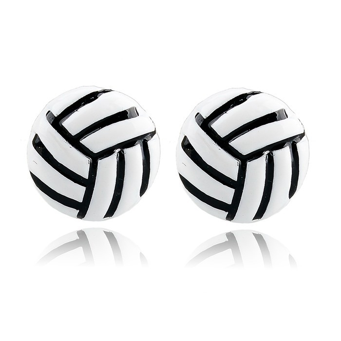 custom design Sport Volleyball enamel Fashion studs Earrings