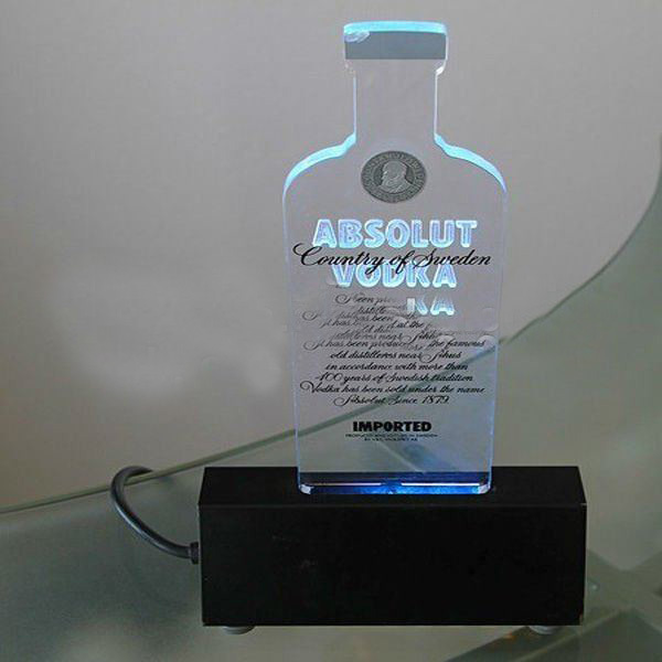 Acrylic Stand Designs : Led light clear transparent table tent menu card holder