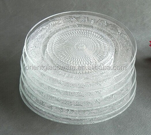 round clear glass plate dinner plate dessert plate & Round Clear Glass PlateDinner PlateDessert Plate - Buy Glass Plate ...