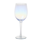 Decal blue crystal red wine glasses