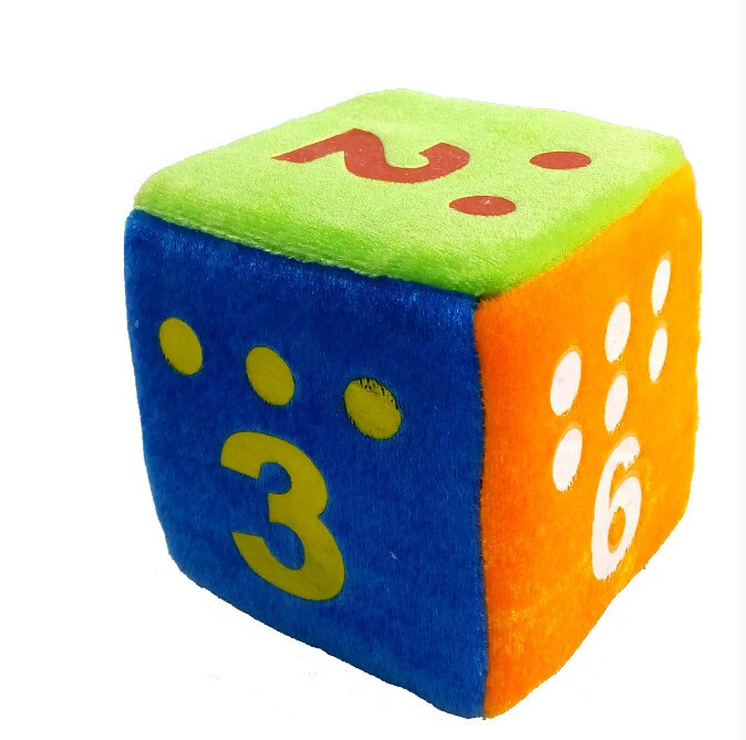 Oem Funny Decorative Christmas Colorful Dice Shaped Throw