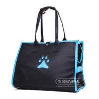 Folding PU Leather Pet bag
