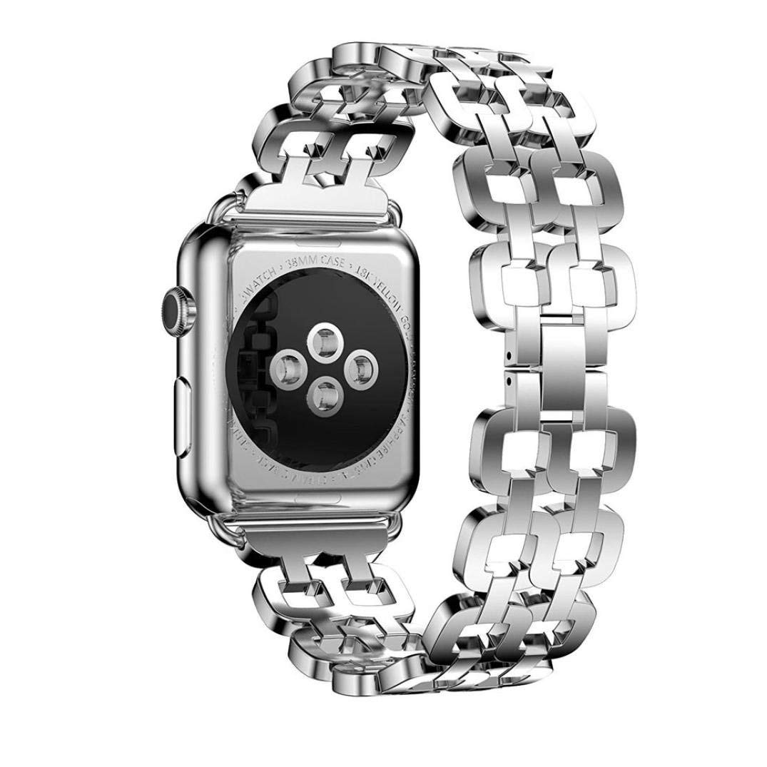 For Apple Watch Band 42MM, HP95(TM) New Design Stainless Steel Bracelet Smart Watch Strap + Repair Tool For Apple Watch Series 1/2 42mm (Series 2 42mm, Silver)