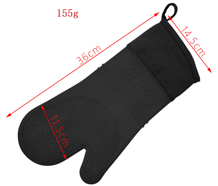 Silicone Finger Protector Oven Bbq Grill Mitt /Silicone BBQ Oven Gloves