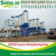 Full automatic control concrete construction batching plant 120m3/h for sale