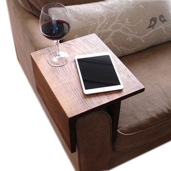 High Quality Sofa Arm Rest Tray Table Couch Wooden Product On Alibaba