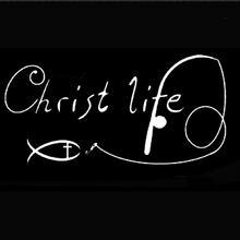 15,2 см * 7,6 см Кристиан Христос жизнь Рыба автомобильные наклейки и наклейки мотоцикл автомобиль Стайлинг Аксессуары Черный Серебряный C8-1272(China)