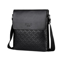 VICUNA POLO 2019 Hot Selling Products New Spring Pure Color PU Leather Messenger Bag Cheap Black Men's Sling Shoulder Bag