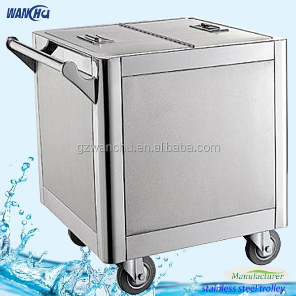 Food Warmer Serving Trolley for Sales/Stainless Steel Commercial Kitchen Bread Four Cart