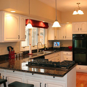 2017 Modular U Shape White Lacquer French Kitchen Cabinet With Black on chrome edging trim for cabinets, dining room cabinets, u-shaped living room furniture, u-shaped outdoor kitchens, l-shaped hinges for cabinets, l-shaped corner cabinets, living room cabinets, breakfast room cabinets, kitchens without upper cabinets, u-shaped restaurant booths, powder room cabinets, foyer cabinets,
