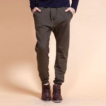 wholesale trousers men cotton jogger track pants with rubber band for sport