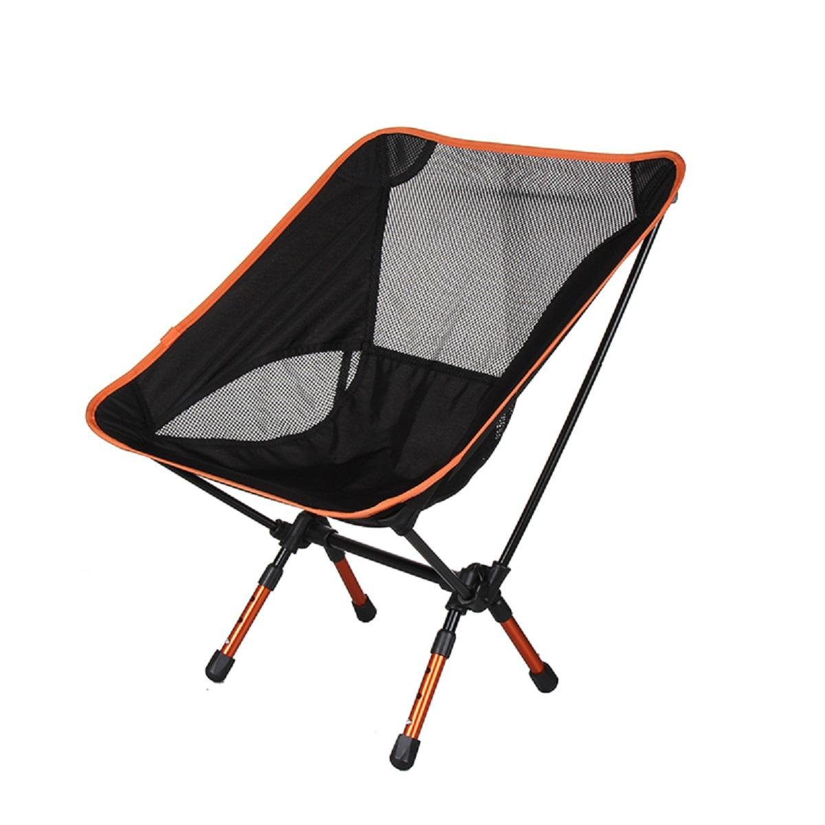 GAOJIAN Aluminum Alloy Folding Moon Chair Outdoor Ultra-Light Portable Multi-Function Fishing Chair Retractable Garden Leisure Chair Load 300 Pounds , c