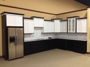 European Style Modular Kitchen Cabinet With Fridge Cabinet