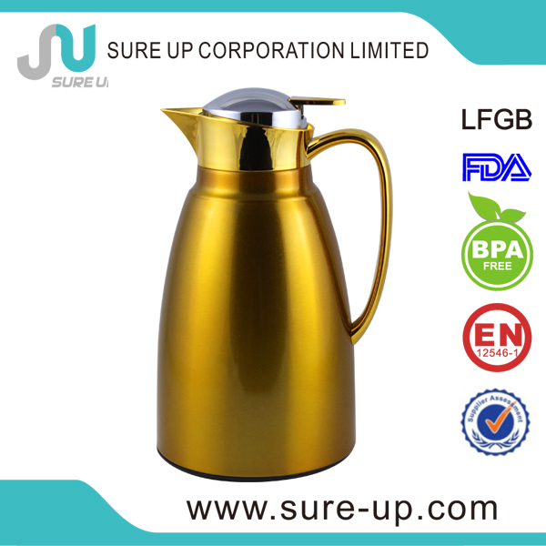 Customize logo hot beverage drinking vacuum coffee pot(JGER-P)
