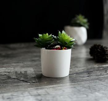 Simple morden desktop decor mini white ceramic flower pots for simple morden desktop decor mini white ceramic flower pots for succulent planter mightylinksfo