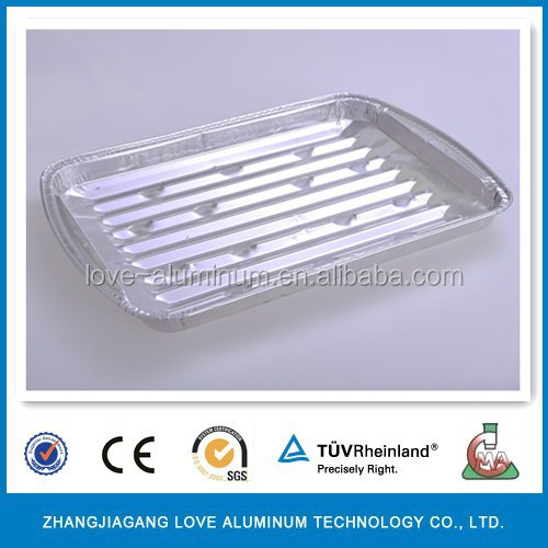 Disposable Pollution-free Convenient Alloy 8011BBQ Indoor Aluminium Foil Pan Grill Lotus Grill Eco Grill