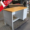 high quality steel desk with locked filing cabinet / metal office table with chest drawers