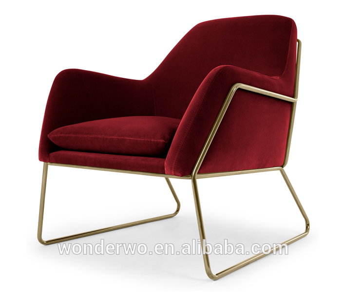 Awe Inspiring Living Room Furniture Velvet Accent Chair With Tubular Metal Frame Buy Accent Chair Living Room Chair Fancy Living Room Chairs Product On Andrewgaddart Wooden Chair Designs For Living Room Andrewgaddartcom