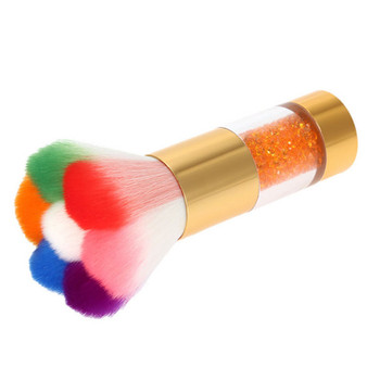 Fantastic Looking Nail Dust Removing Nail Cleaning Brush with Colorful Soft Hair