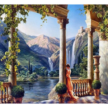 natural tuscany landscape oil painting 3d on canvas buy 3d oil
