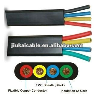 Jhs Tml Rubber Insulation Pure Copper Conductor Flat