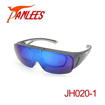 4cf61b2965 Panlees flip up fishing fit over glasses sun glass rx optical insert  polarized myopia glasses bee