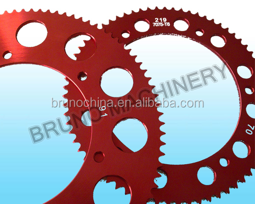 Competitive Price CNC Machined Aluminum 7075 Alloy #219 Racing Kart Sprocket