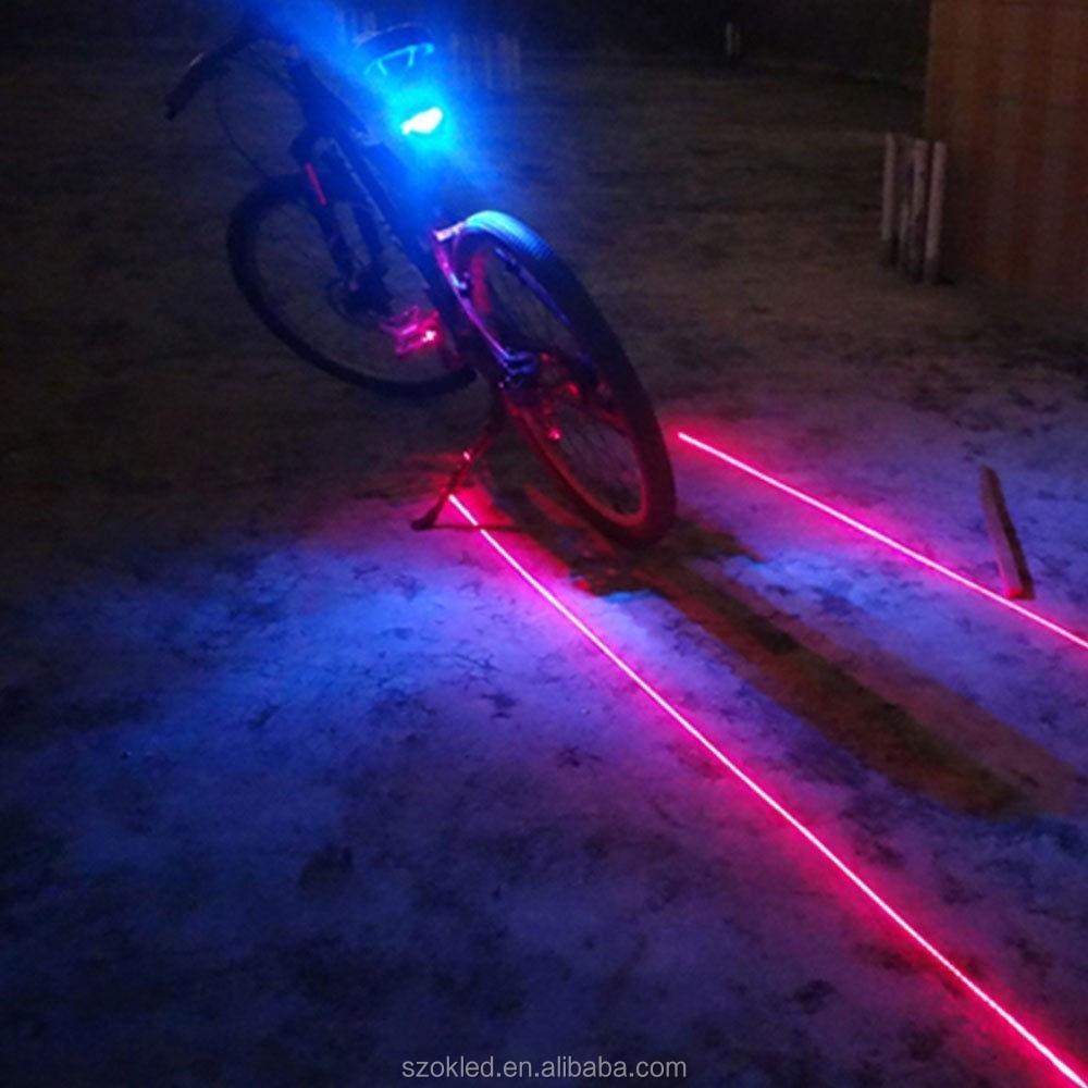 Cycling Bicycle Red 2 Led Tail Rear Bike Flashing Light Safety Warning Lamp