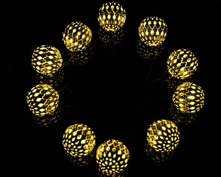 Led Solar Christmas Ball Light Small Round Ball Christmas Lights ...