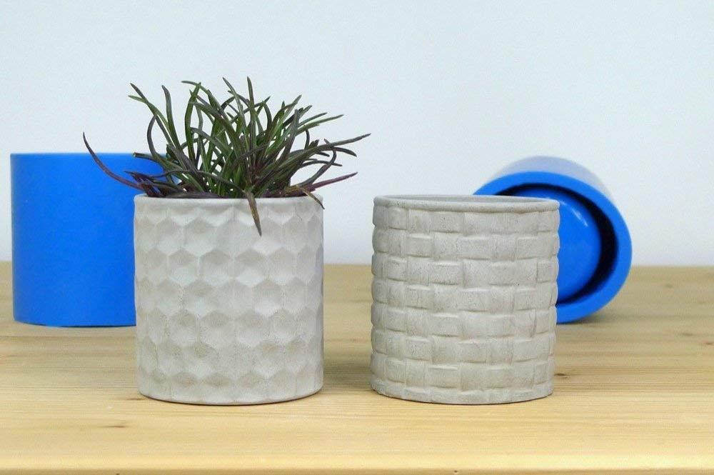 Silicone rubber mold for medium concrete planters, Set of 2