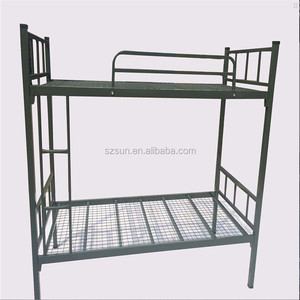 High strength army green metal bed cheap design iron bunk bed