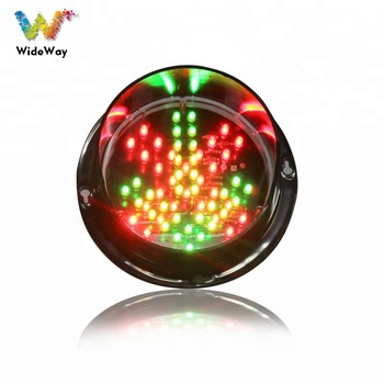 Unique 125mm red cross green arrow module traffic arrow light