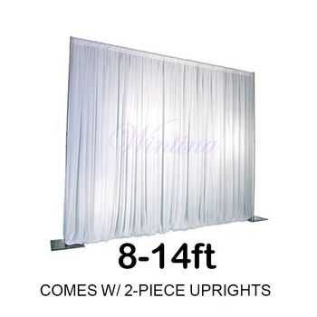 Wholesale Chinese factory manufacturing Wintina pipe and drape stands,8-14ft pipedrape kit for wedding event stage decor