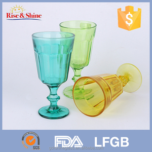 colorful drinking glassware tumbler set/3 pcs drink cup tumbler