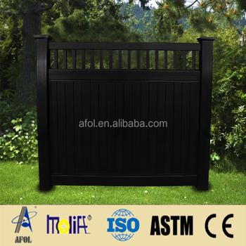 Zhejiang Afol Pvc Stockade Fence Black Portable Panels