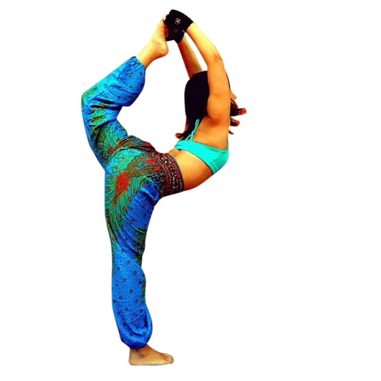 de748cabb3 Get Quotations · DMZing Women s Harem Pants Bohemian Clothes Boho Yoga  Hippie Pants Smocked Waist