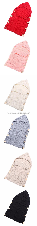 white Neugeborenes Baby Gestrickt Wickeln Swaddle Decke Schlafsack f/ür 0-12 Monat Baby