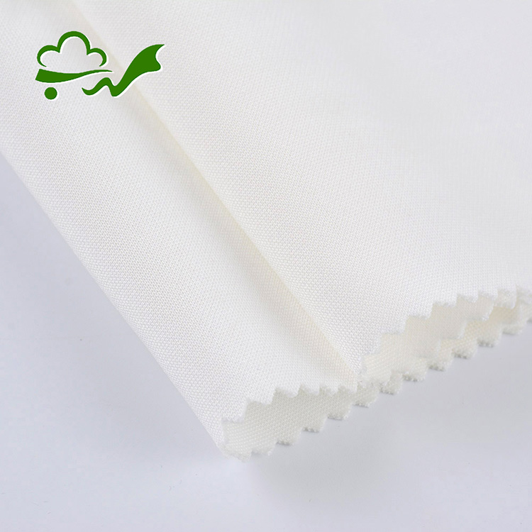 High quality custom made double knit white polyester and spandex fabric