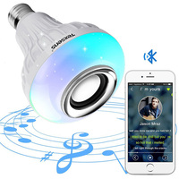 100-240VAC Android 4.0 Music Sync B22 E27 rgb 5w 12W rgb white wireless bluetooth speaker bulb with led light