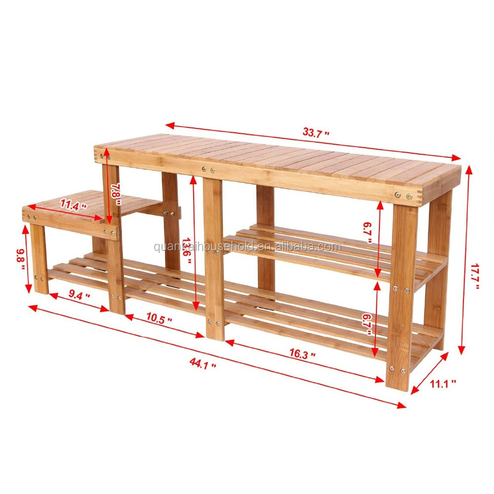 Awe Inspiring 2 Tier Shoe Bench Boot Organizing Rack Entryway Storage Shelf W High And Low Levels For Adult And Child 100 Bamboo Buy Bamboo Shoe Bench Boot Spiritservingveterans Wood Chair Design Ideas Spiritservingveteransorg