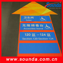 Hot sell christmas removable sticker 3d floor graphics vinyl